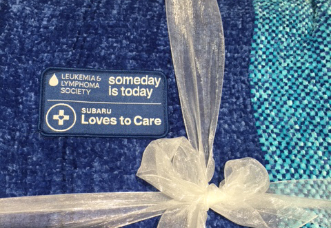 Leukemia and Lymphoma Society - Subaru loves to care - Blanket - what is the subaru love promise
