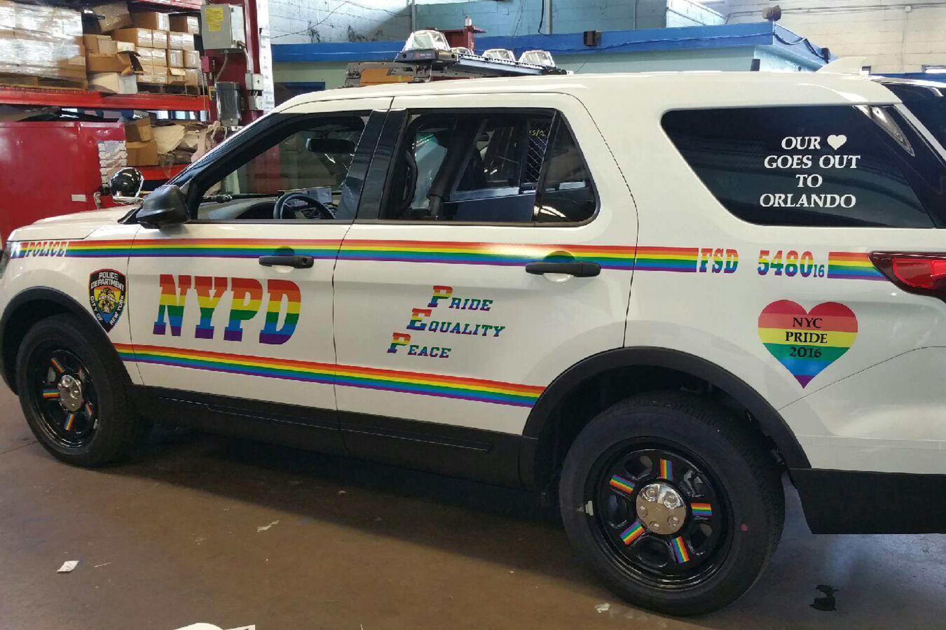 Nypd honors orlando victims supports lgbt community with for Department of motor vehicles orlando fl