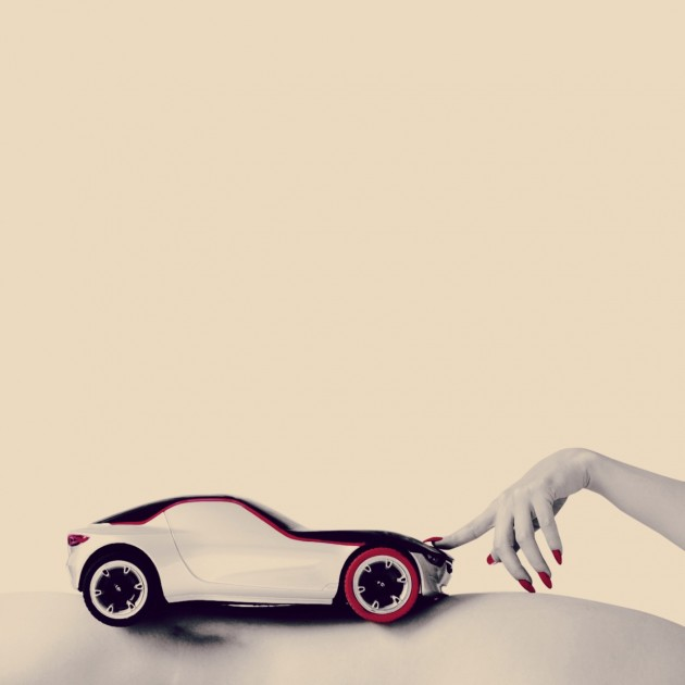 The futuristic Opel GT Concept has inspired art and photographs from Russian Instagram star @katia_mi