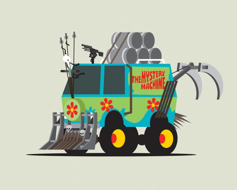Scooby Doo Mystery Machine as Mad Max Fury Road vehicle