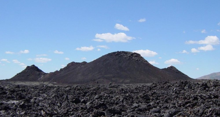 The Big Southern Butte trail is located close to the Craters of the Moon National Monument