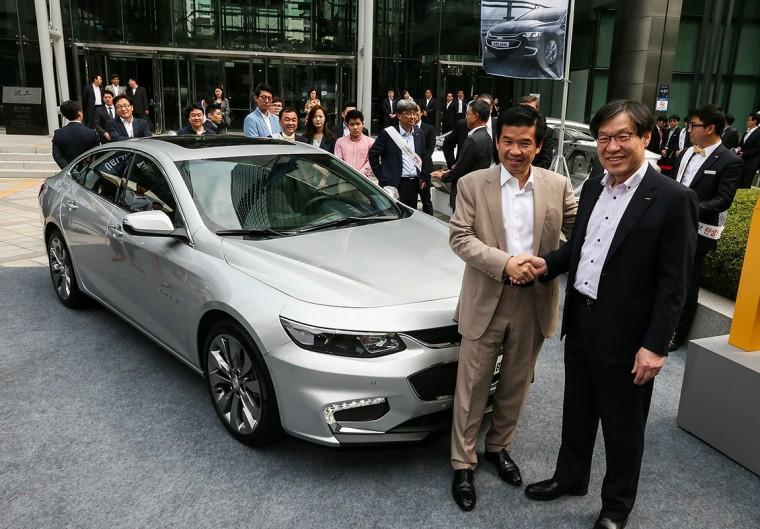 2016 Chevrolet Malibu frame POSCO Seoul