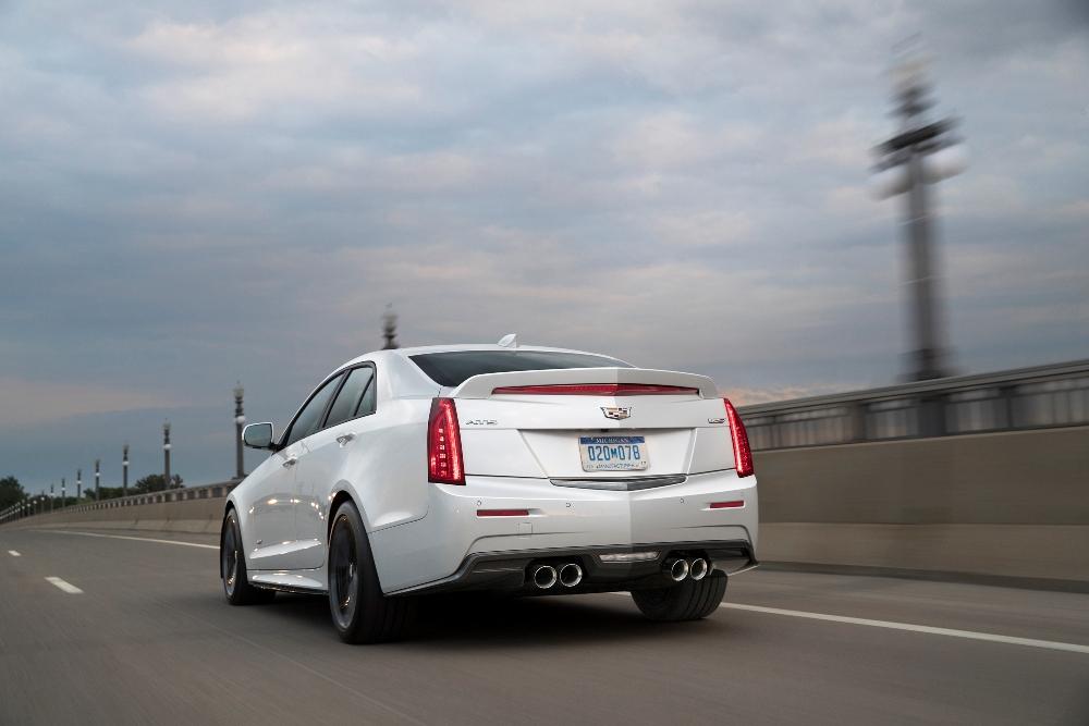2017 Cadillac CTSV Sedan with Carbon Black sport package rear
