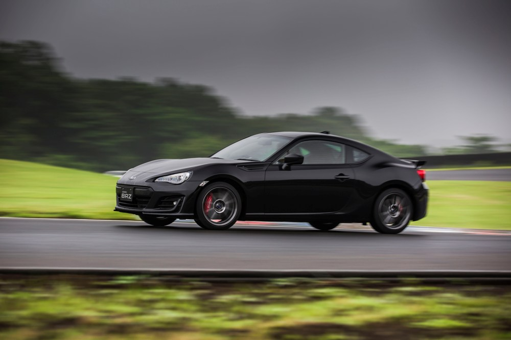 2017 Subaru BRZ black side view | The News Wheel