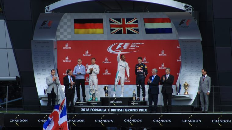2016 British Grand Prix - Podium Ceremony