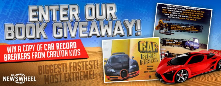Car Record Breakers book from Carlton Kids giveaway banner