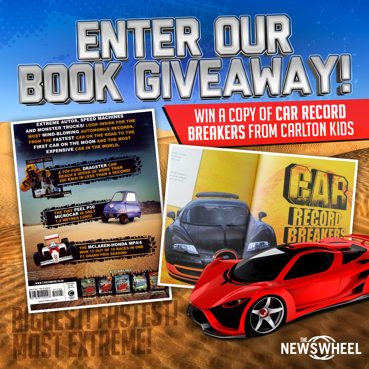 enter our book giveaway win a copy of car record breakers from