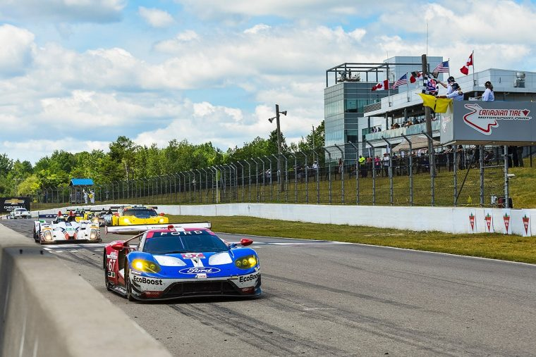 Ford GT checkered flag Canada