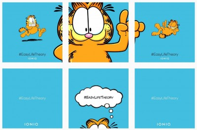 Garfield Hyundai Ioniq Instagram #easylifetheory