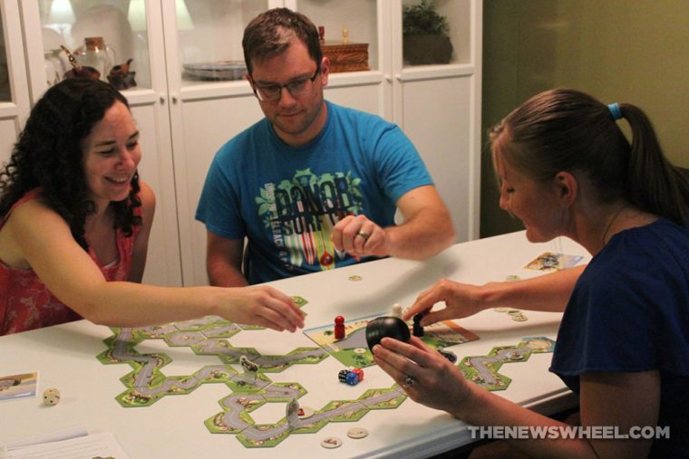 Hurry'Cup! racing board game review Hurrican game play