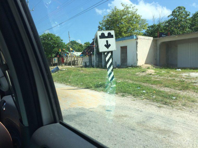 Mexico speed bump