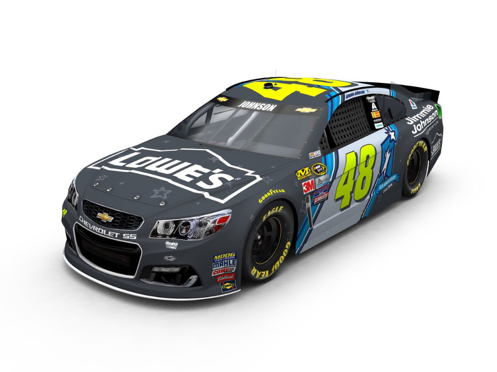 Jimmie Johnson Chevy >> Paint Scheme for Jimmie Johnson's New Chevy Racecar Supports Youth Education | The News Wheel