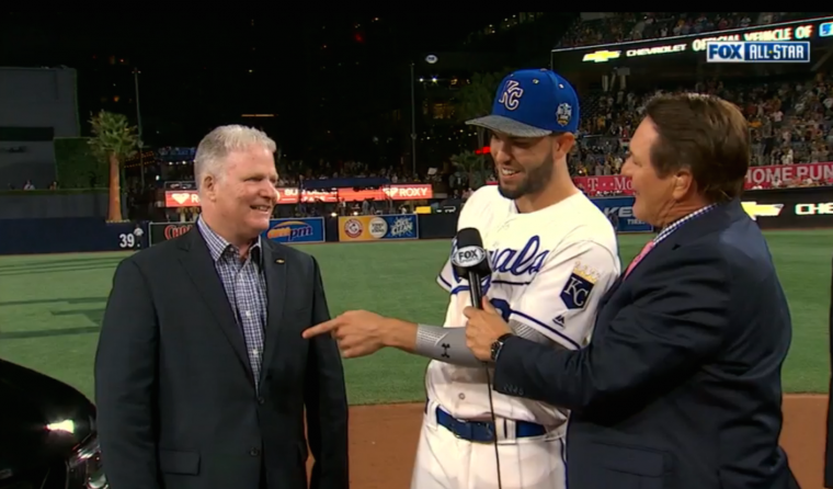 MLB All-Star Game MVP Eric Hosmer picks Chevy Colorado Midnight Edition over 50th Anniversary Edition Camaro