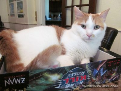 Road Kill Rally Z-Man Games Racing Board Game Review cat