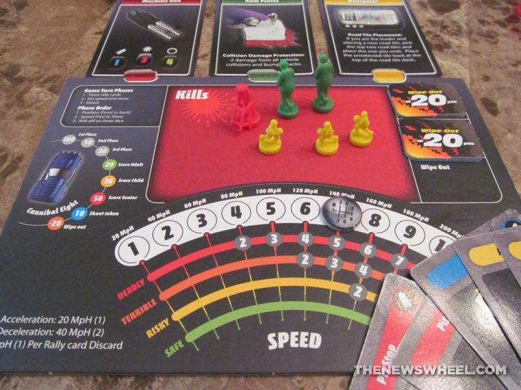 Road Kill Rally Z-Man Games Racing Board Game Review player board
