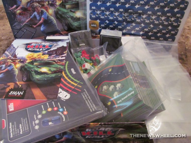 Road Kill Rally Z-Man Games Racing Board Game Review unboxing