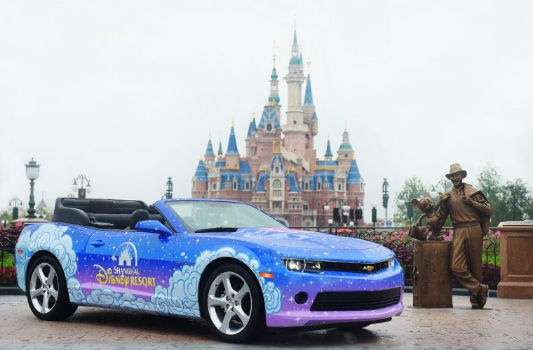 Chevrolet Camaro Mickey's Storybook Express Parade Shanghai Disney Resort