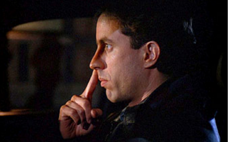 "Jerry Seinfeld picks his nose in classic Seinfeld episode ""The Pick"""