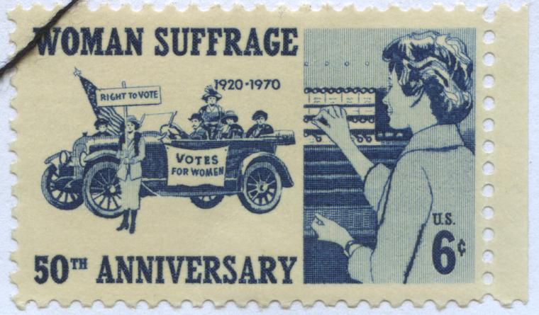 Women's Suffrage Postage Stamp