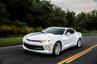The Chevy Camaro, along with the Ford Mustang and Dodge Challenger, are maintaining higher resale values than normal cars, according to KBB.com