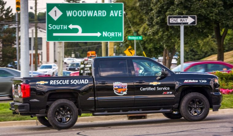 2016 Chevy Silverado Chevrolet Certified Service Rescue Squad pickup at Woodward Dream Cruise