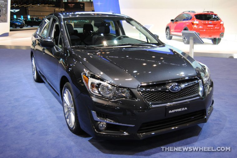 2016 Subaru Impreza sedan at Chicago Auto Show