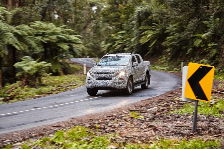 2017 Holden Colorado testing