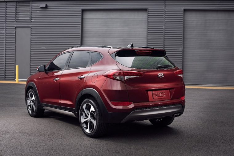 2017 Hyundai Tucson Overview red model
