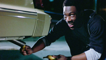 Beverly Hills Cop Banana in Car Tailpipe scene