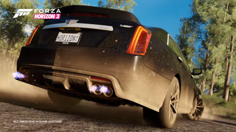 Video game enthusiasts will be able to use the Cadillac CTS-V in Forza Horizon 3