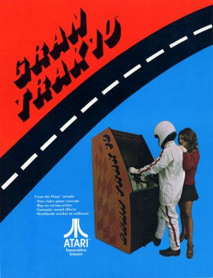 Fast Trak 10 racing video game original poster