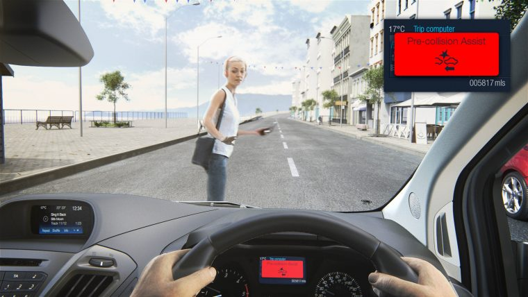 Ford Transit with Pedestrian Detection