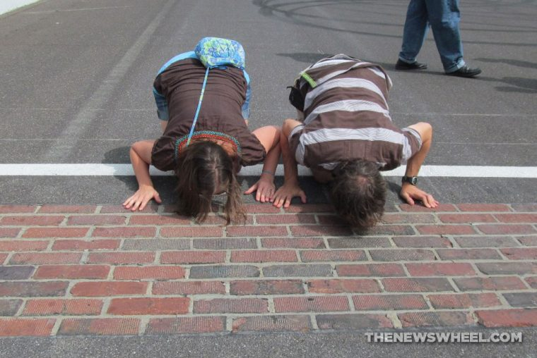 Indianapolis Motor Speedway Hall of Fame Museum kiss the bricks