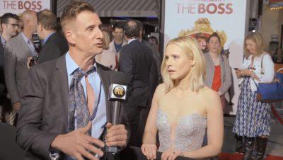 Junketeers online show press reporters Kristen Bell