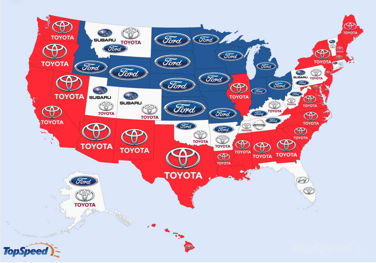 Check Out This Map Of The Worlds Most Googled Car Brands The - Best selling car in us map
