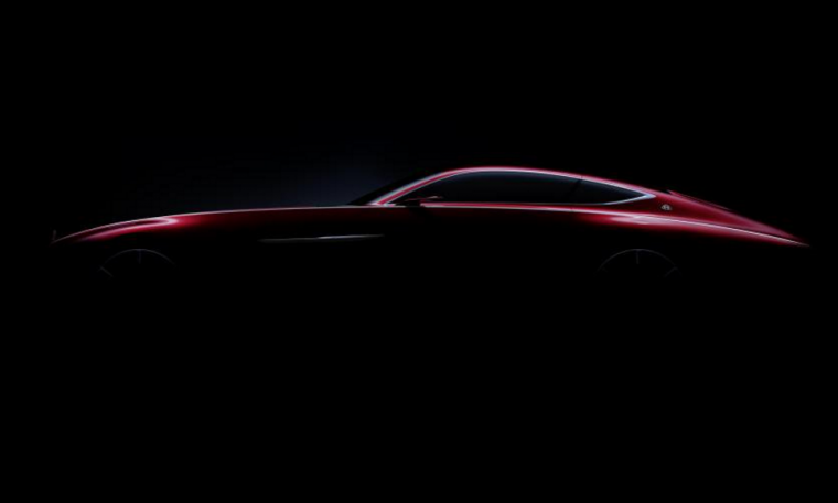 Out the blue, Mercedes-Benz tweeted this teaser image of its new Maybach coupe