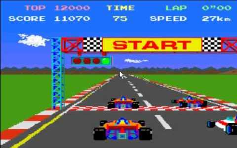 Pole position 1982 car racing video game Namco Atari