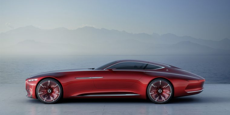 Mercedes-Benz recently showcased is newest Maybach coupe concept vehicle in Pebble Beach during Monterey Car Week