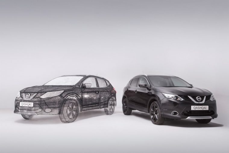 World's largest 3D pen sculpture Nissan Qashqai