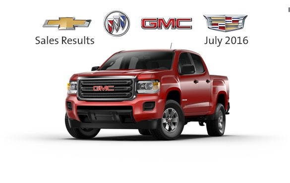 General Motors July 2016 sales