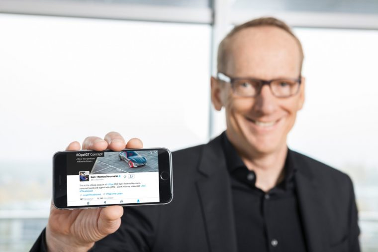 Opel CEO Dr. Karl-Thomas Neumann celebrated three years on Twitter this past Sunday