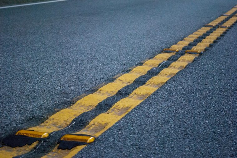 rumble strip median yellow lines