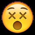 x eyes face emoji