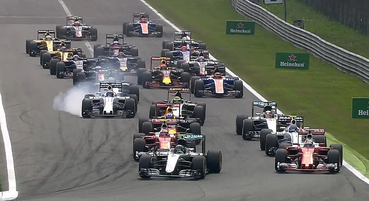 2016 Italian Grand Prix Race Start