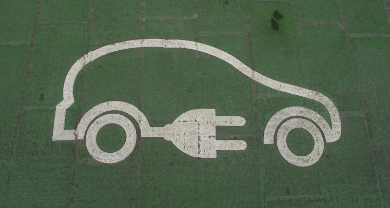 Electric Car charging parking spot