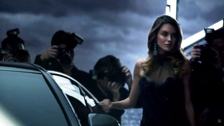 2015 Mercedes Benz C-Class commercial actress