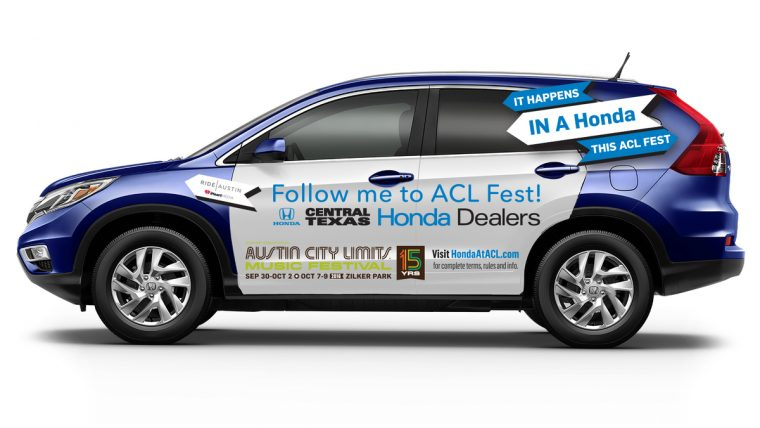 """Hail A Honda"" Rideshare Program Comes to Austin City Limits Music Festival Thanks to Honda and the Central Texas Honda Dealers"