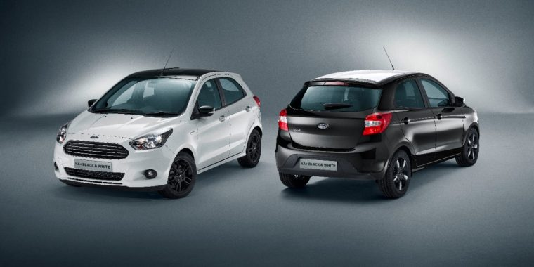 2016 Ford KA+ White and Black