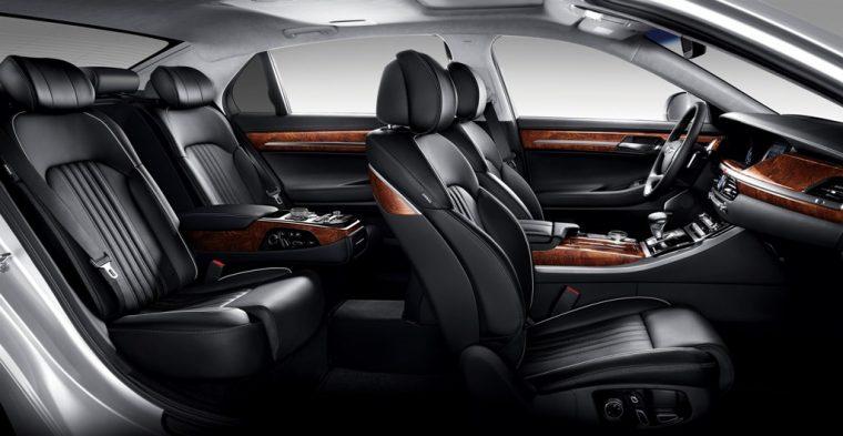 2017 Genesis G90 model overview interior cabin view