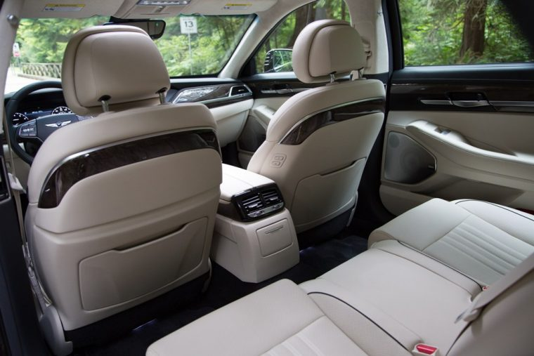 2017 Genesis G90 model overview spacious interior